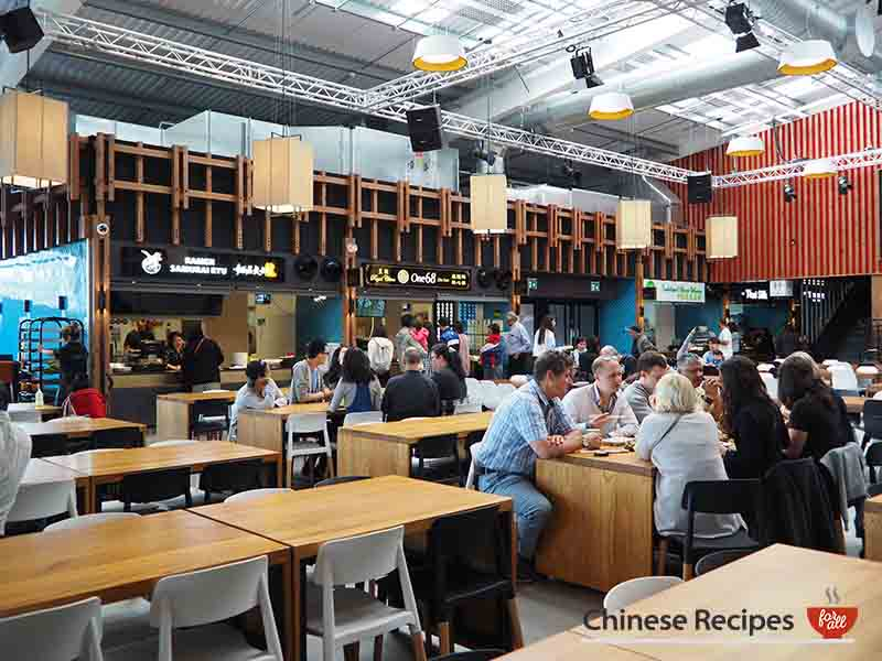 Interior early in the morning - Bang Bang Oriental Food Hall Review in North London