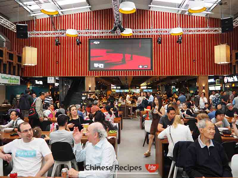 Interior - Bang Bang Oriental Food Hall Review in North London