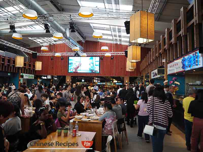 Interior at about 12 noon - Bang Bang Oriental Food Hall Review in North London