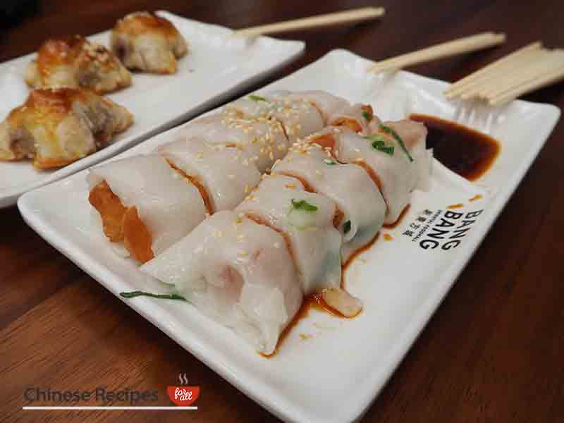Fried dough in rice rolls - Bang Bang Oriental Food Hall Review in North London