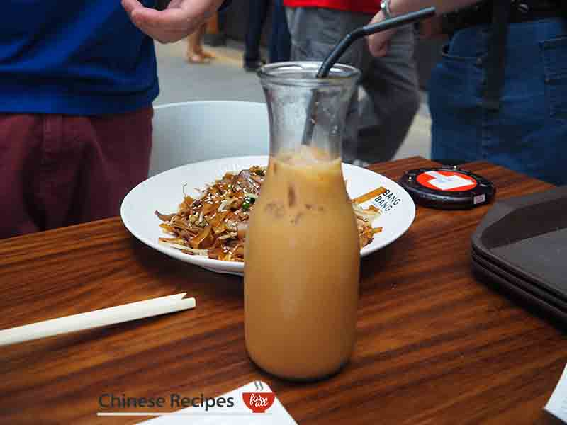 Ice Chinese tea - Bang Bang Oriental Food Hall Review in North London