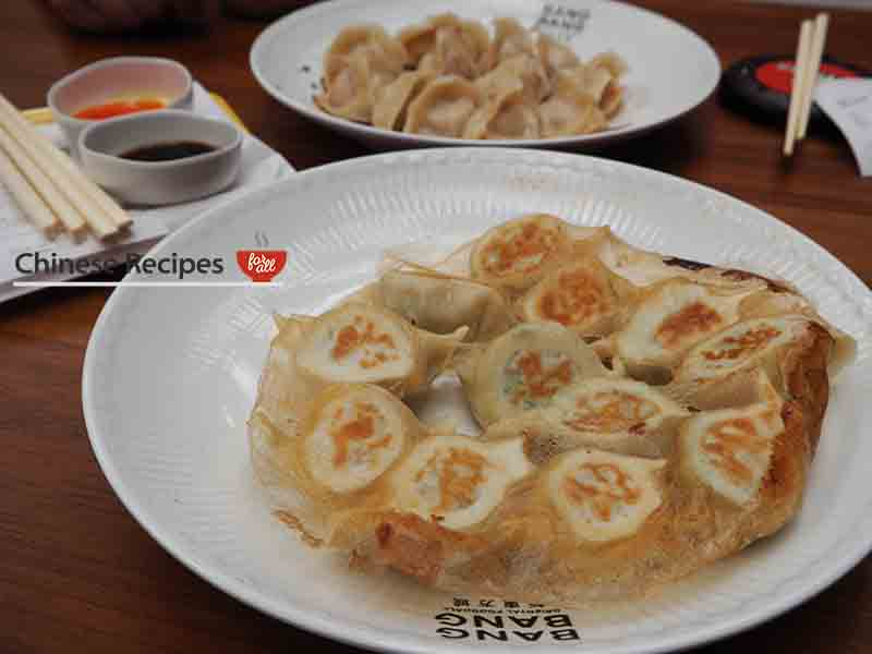 Pork and prawn fried dumplings - Bang Bang Oriental Food Hall Review in North London