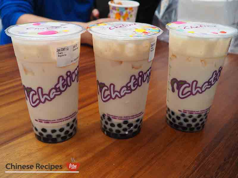 Bubble tea from Cha Time - Bang Bang Oriental Food Hall Review in North London