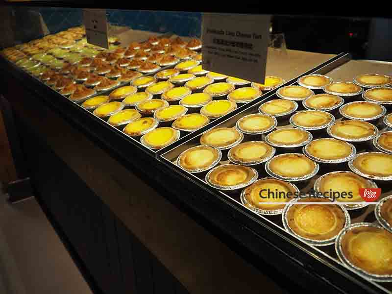 Chinese Custard Egg Tarts in different flavours - Bang Bang Oriental Food Hall Review in North London