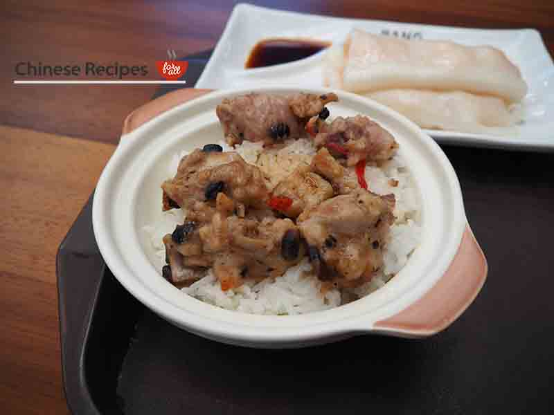 Pork Ribs in rice - Bang Bang Oriental Food Hall Review in North London