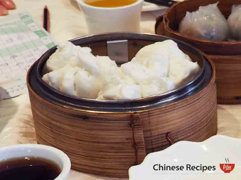 roast pork bun char siu bao - dim sum
