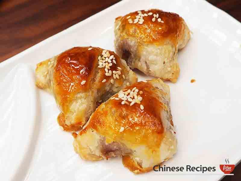 Roast Pork Puff Pastry - dim sum