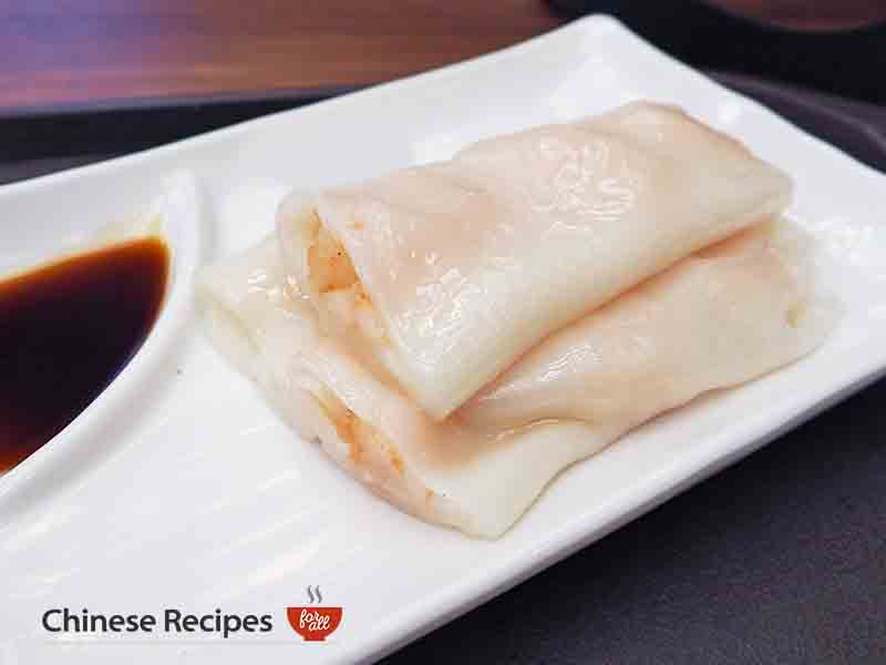 KING PRAWN RICE NOODLE ROLL - dim sum