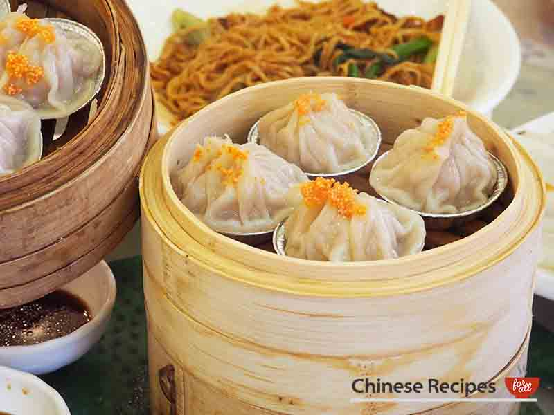 steamed pork dumplings - dim sum