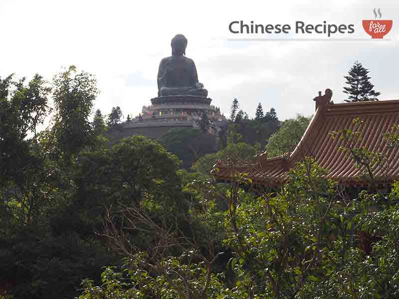hong kong giant bronze buddha from far