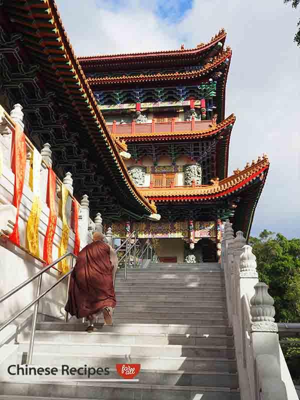 hong kong giant bronze buddha monks