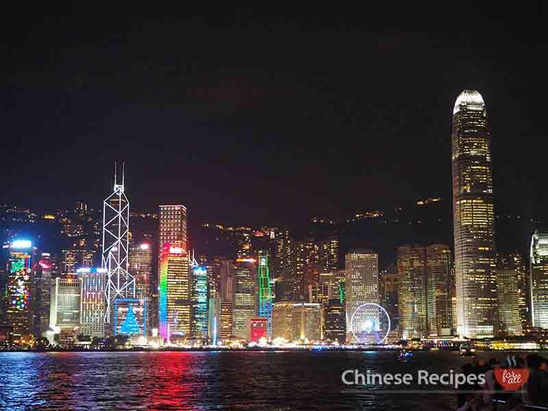 hong kong skyline tsim tsa tsui