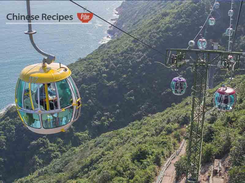 hong kong ocean park cable car hill mountain