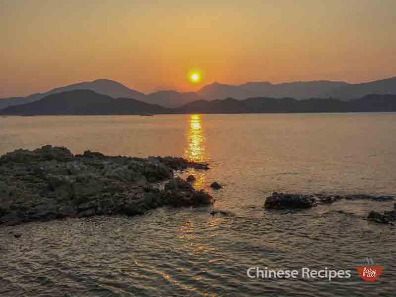 hong kong sharp island sun set sunset