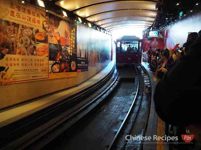 hong kong victoria peak tram station platform railway
