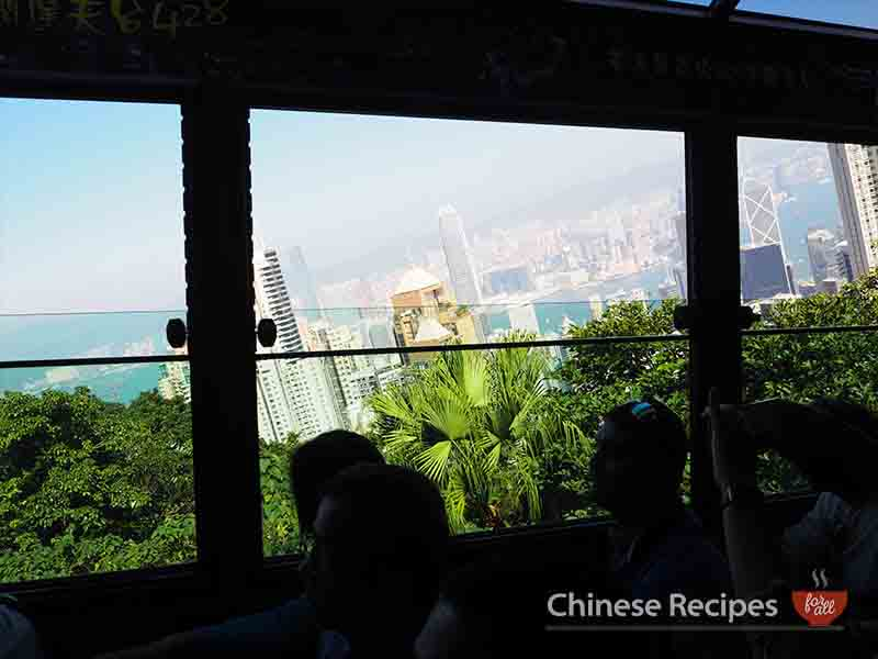 hong kong victoria peak tram station steep railway view