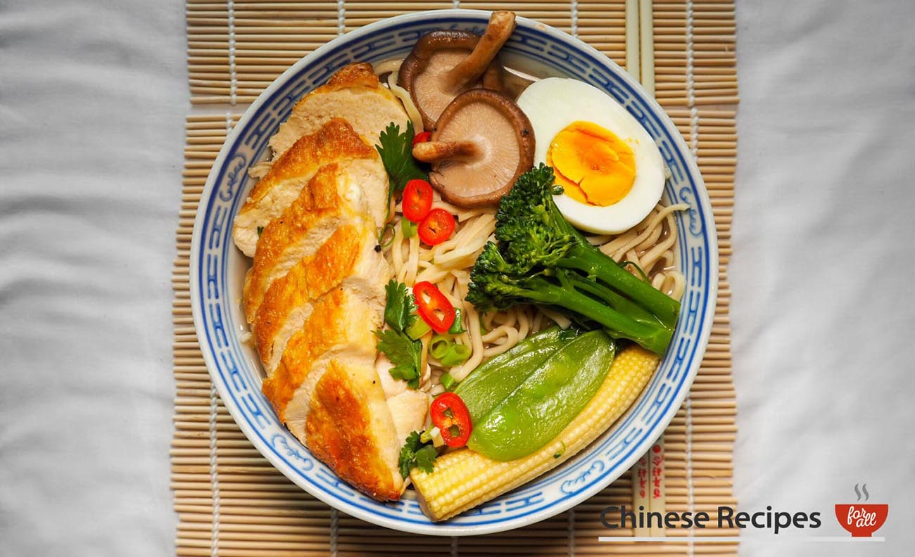 Baked Chicken Noodle Ramen Soup - Chinese Recipes For All