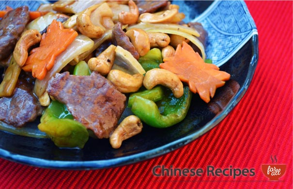 Beef and Cashew Nuts  - Chinese Recipes For All.com