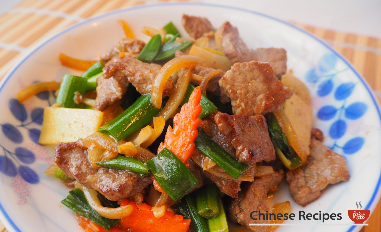 Beef and Ginger with Spring Onions - Chinese Recipes For All