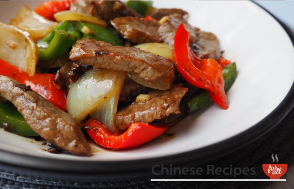 Beef and Green Pepper with Black Bean Sauce - Chinese Recipes For All