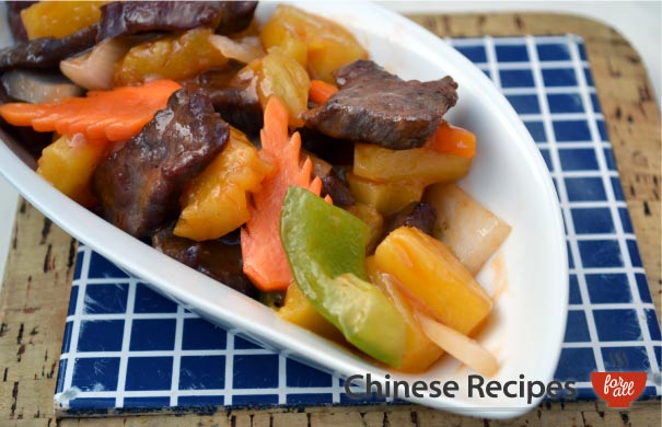 Beef and Pineapple - Chinese Recipes For All