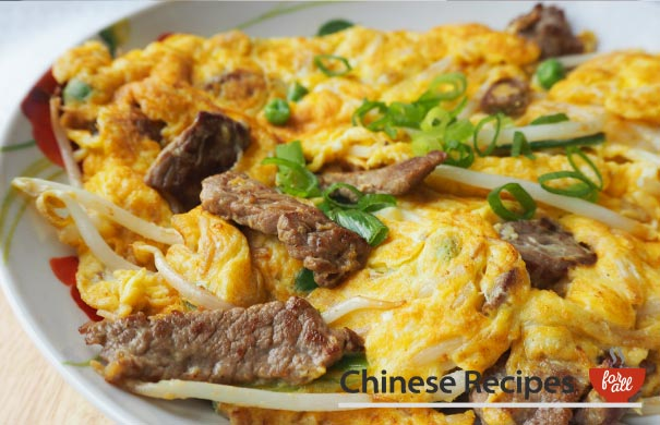 Beef Fu Yung Omelette - Chinese Recipes For All