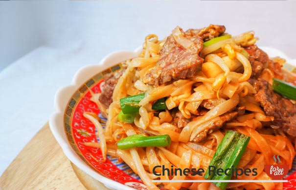 Beef Ho Fun Noodles - Chinese Recipes For All