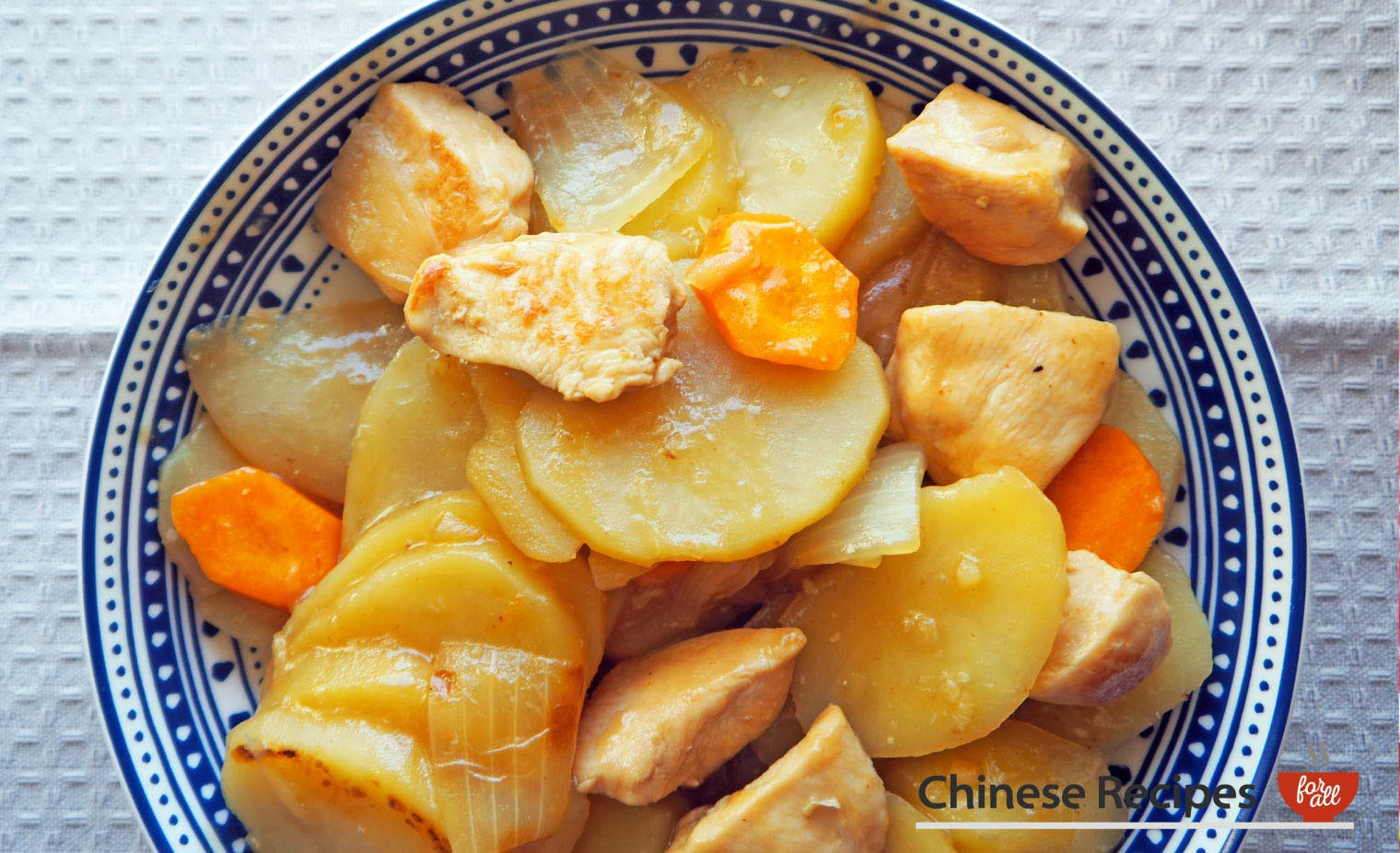 Braised Chicken and Potatoes - Chinese Recipes For All
