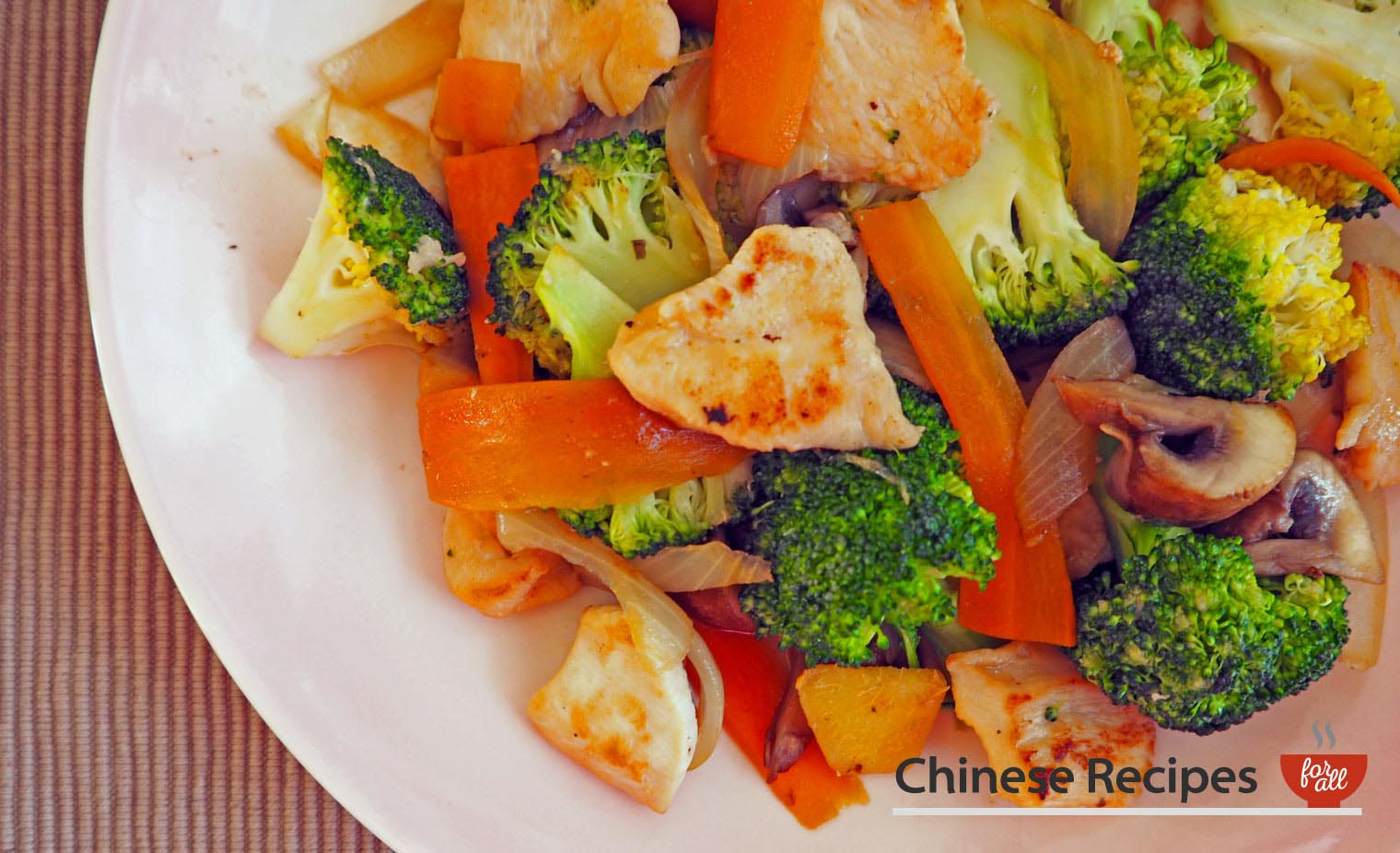 Chicken and Broccoli Vegetable Stir Fry - Chinese Recipes For All