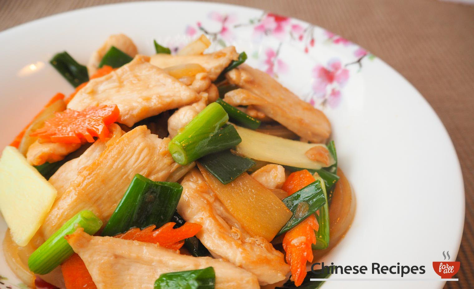 Chicken and Ginger with Spring Onion - Chinese Recipes For All