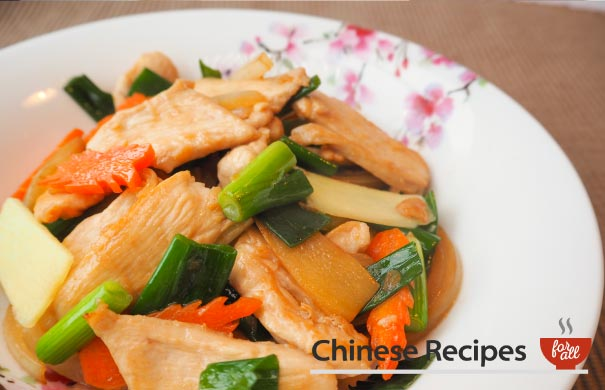 Chicken and Ginger with Spring Onion