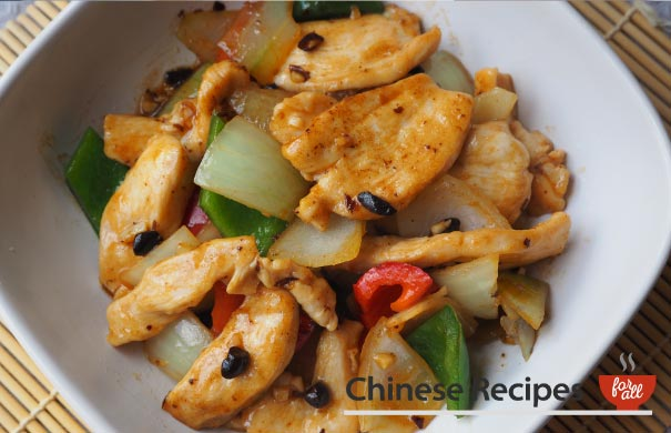 Chicken and Green Pepper with Black Bean Sauce - Chinese Recipes For All