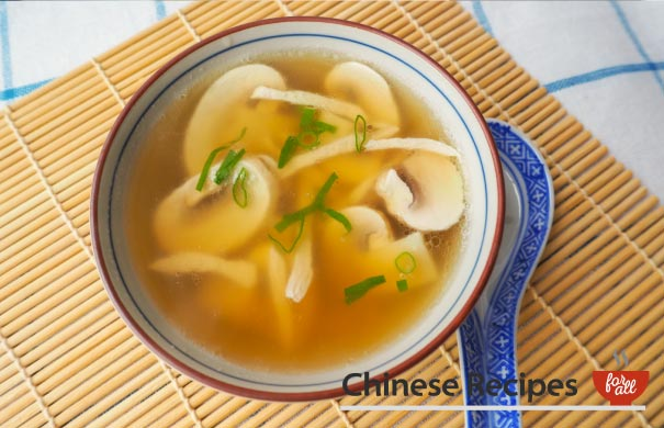 Chicken and Mushroom Soup - Chinese Recipes For All