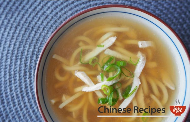 Chicken and Noodle Soup - Chinese Recipes For All