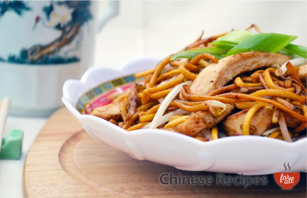 Chicken Chow Mein Noodles - Chinese Recipes For All.com