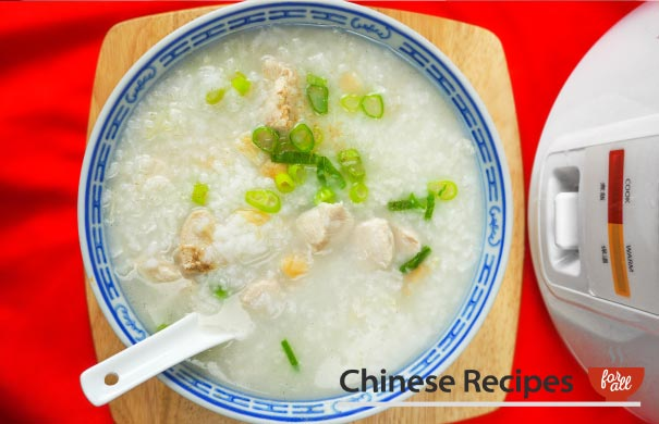 Chicken Congee [Rice Cooker Recipe] - Chinese Recipes For All