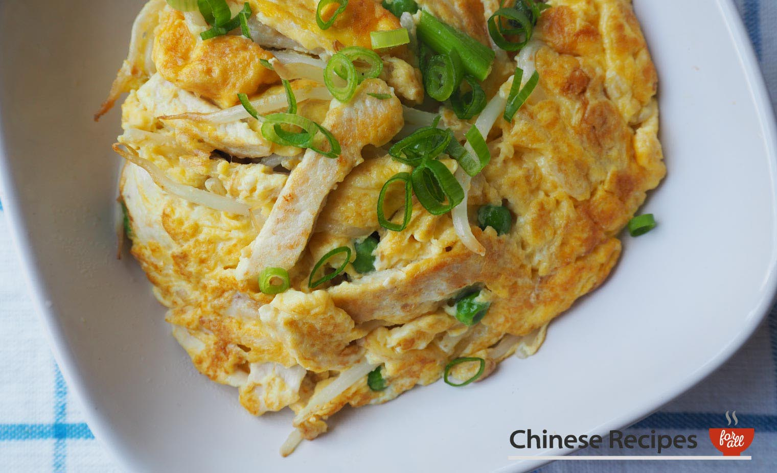 Chicken Fu Yung Omelette - Chinese Recipes For All