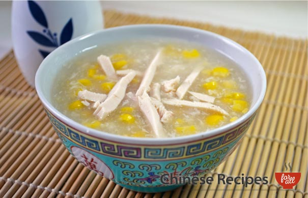 Chicken and Sweetcorn Soup - Chinese Recipes For All