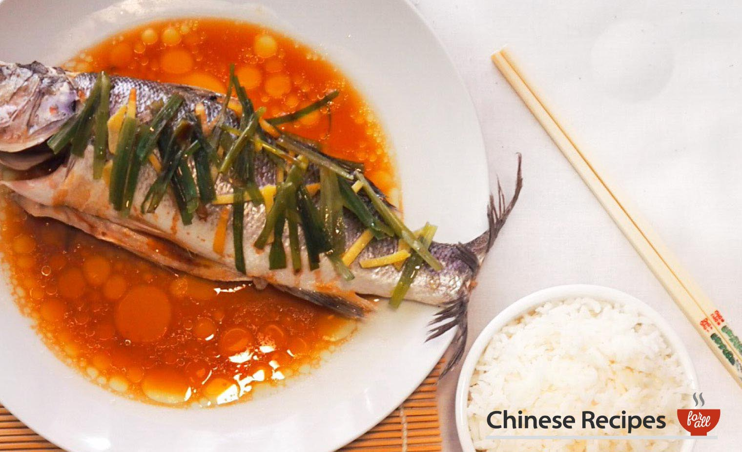 Steamed Sea Bass Chinese Style - Chinese Recipes For All