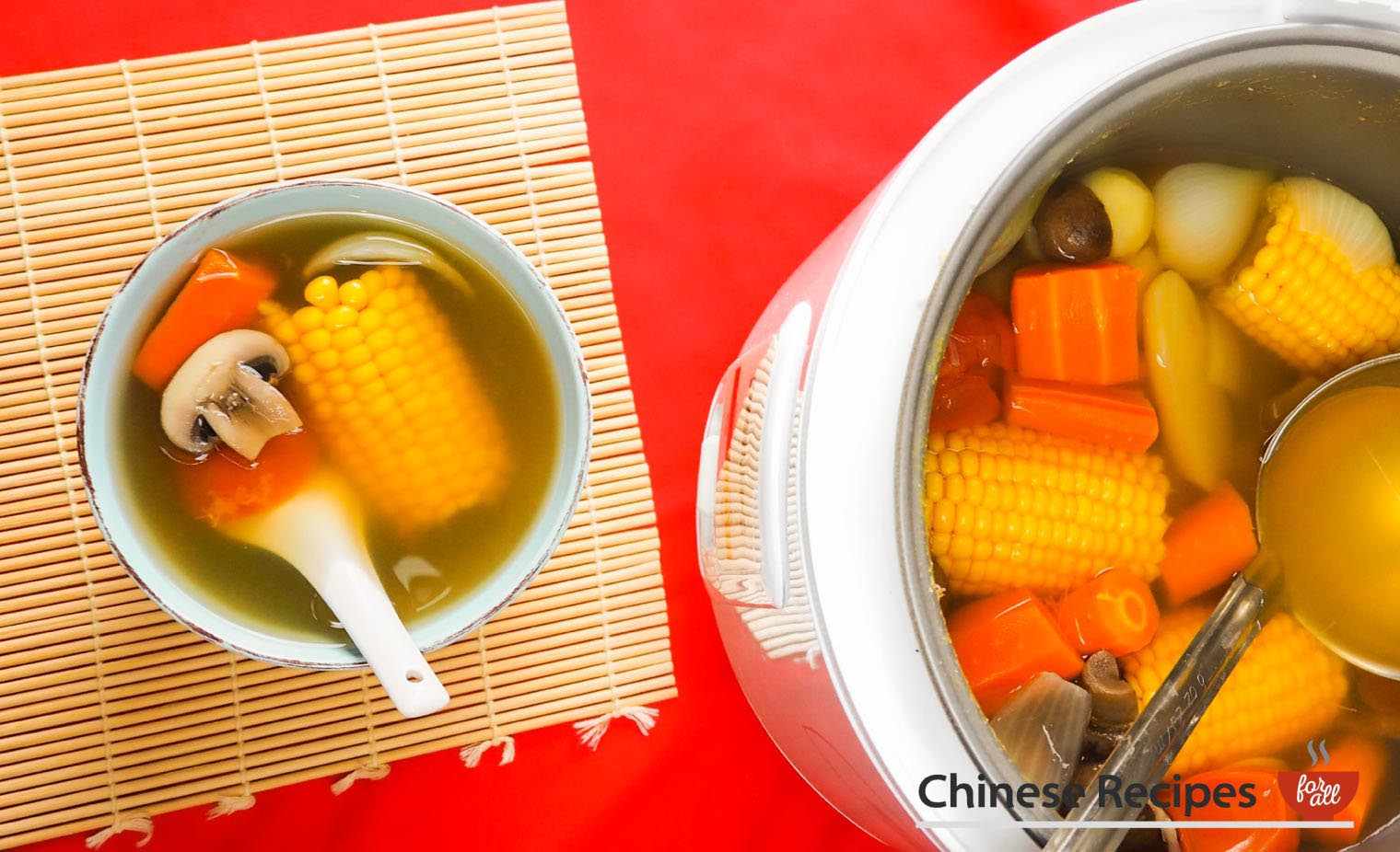 Clear Vegetable Broth Soup [Rice Cooker Recipe] - Chinese Recipes For All
