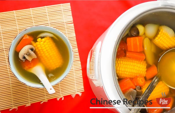 Clear Vegetable Broth Soup [Rice Cooker Recipe]