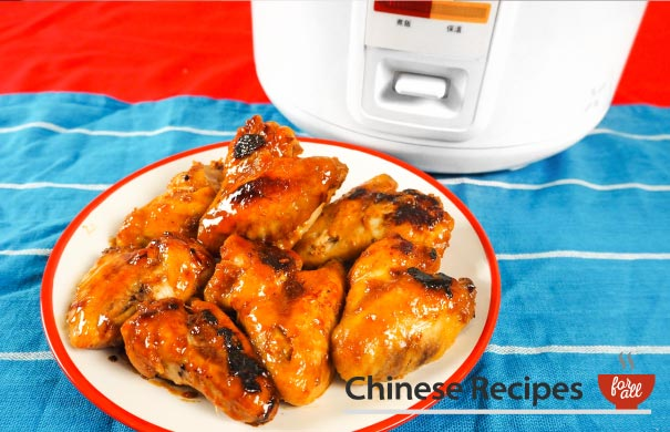 Easy Sticky Chicken Wings [Rice Cooker Recipe] - Chinese Recipes For All