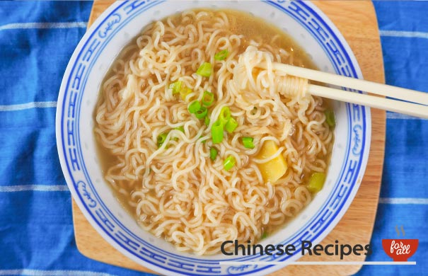 Instant Ramen Noodles Without Using MSG Packet Powder