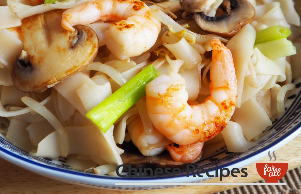 King Prawn Ho Fun Rice Noodles