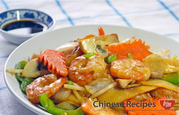 King Prawn and Vegetables - Chinese Recipes For All