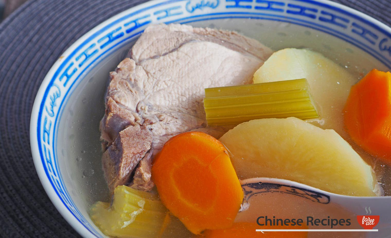 Pork and Vegetables Chinese Soup - Chinese Recipes For All