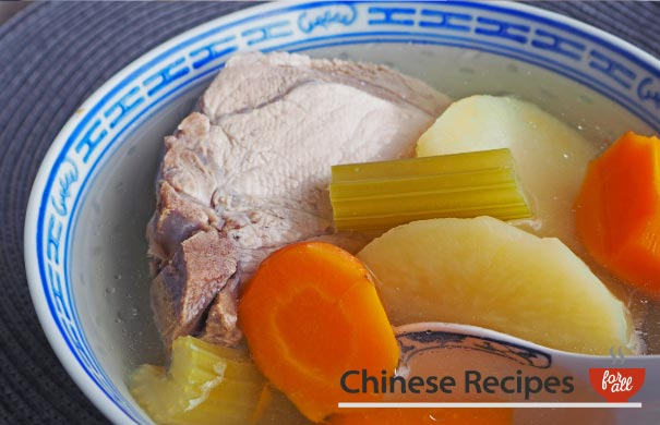 Pork and Vegetables Chinese Soup