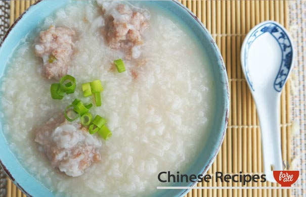 Pork Congee - Chinese Recipes For All