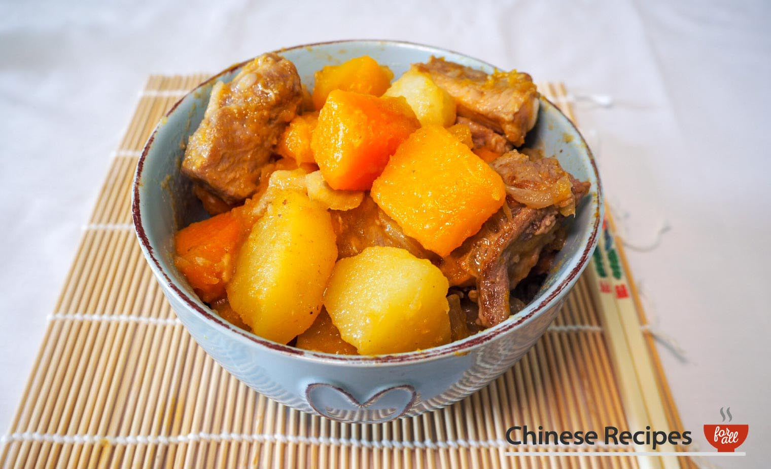 Pork Rib Stew With Potato Butternut Squash And Pumpkin Chinese Style Chinese Recipes For All