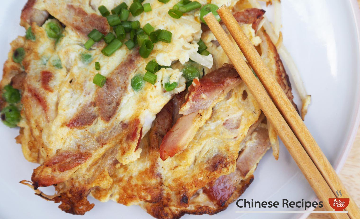 Roast Pork Fu Yung Omelette - Chinese Recipes For All